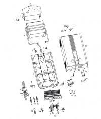 Структура водонагревтеля проточного газового